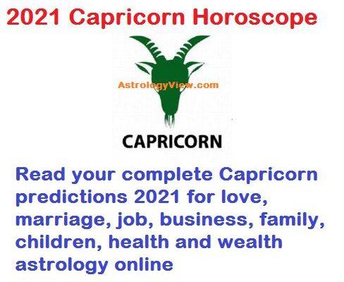 Capricorn Horoscope 2021