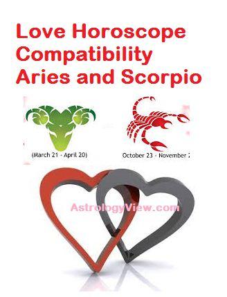 Aries and Scorpio love compatibility